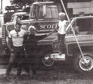 old newspaper clipping showing the Scott family